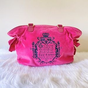 Juicy Couture Hot Pink Fairytale Tote